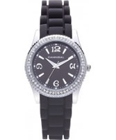 Buy Cannibal Ladies Black Silicone Watch online