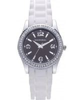 Buy Cannibal Ladies White Black Silicone Watch online