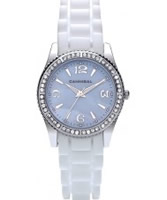 Buy Cannibal Ladies Blue White Silicone Watch online