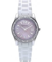 Buy Cannibal Ladies Pink White Silicone Watch online