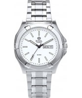 Buy Royal London Mens Classic White and Silver Watch online