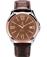 Buy Royal London Mens Automatic Brown and Steel Watch online