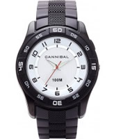 Buy Cannibal Mens White Black Plastic Watch online