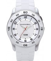 Buy Cannibal Mens All White Plastic Watch online