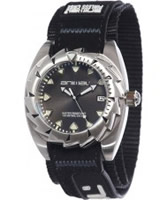 Buy Animal Mens Zepher Black Fabric Strap Watch online