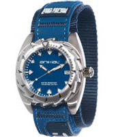 Buy Animal Mens Zepher Blue Fabric Strap Watch online