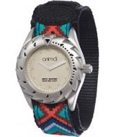 Buy Animal Ladies Zepheresse Black Fabric Strap Watch online