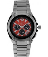 Buy Ballistic Mens Cyclone Chronograph Silver Red Watch online