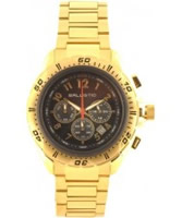 Buy Ballistic Mens Chronograph Dark Brown Gold Watch online