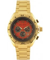 Buy Ballistic Mens Chronograph Red Gold Watch online