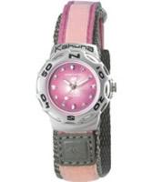 Buy Kahuna Ladies Pink Velcro Strap Watch online