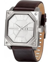 Buy Black Dice Mens Consortium Silver Brown Watch online