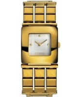 Buy Mango Ladies Gold Cream Watch online