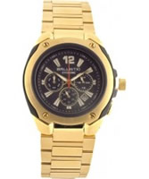 Buy Ballistic Mens Cyclone Chronograph Black Gold Watch online