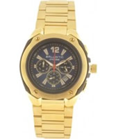 Buy Ballistic Mens Cyclone Chronograph Blue Gold Watch online