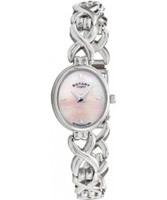 Buy Rotary Ladies Pink Mop Silver Bracelet Watch online