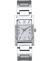 Buy French Connection Ladies Bailey Crystal Silver Steel Watch online