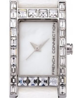 Buy French Connection Ladies Stone Set White Watch online