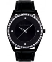 Buy French Connection Ladies Stone Set Black Watch online