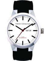 Buy French Connection Mens White Black Watch online