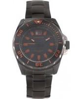 Buy J Springs Mens Black Red Steel Watch online