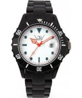 Buy LTD Watch Unisex White Dial Black Bezel Watch online