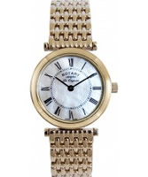 Buy Rotary Ladies Gold Plated White Mop Dial Bracelet Watch online
