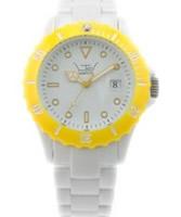 Buy LTD Watch Unisex White Dial Yellow Bezel Watch online