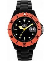 Buy LTD Watch Unisex Black Plastic Watch With Orange Bezel And Black Dial online