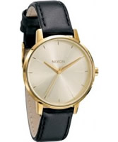 Buy Nixon The Kensington Leather Gold Watch online