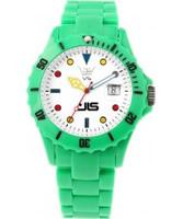 Buy LTD Watch Unisex White Dial Green Polycarbonate Case And Bracelet Watch online