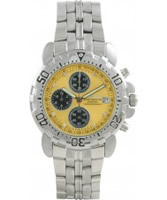 Buy Krug Baumen Mens Sportsmaster Metallic Yellow Diamond Chronograph Watch online