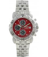 Buy Krug Baumen Mens Sportsmaster Red Diamond Chronograph Watch online