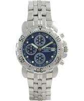 Buy Krug Baumen Blue Sportsmaster Diamond Mens Chronograph Watch online