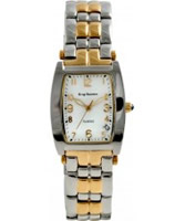 Buy Krug Baumen Mens Tuxedo White Silver Gold Watch online