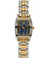 Buy Krug Baumen Ladies Tuxedo Blue Silver Gold Watch online