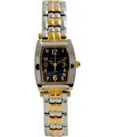 Buy Krug Baumen Ladies Tuxedo Black Gold Silver Watch online