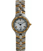 Buy Krug Baumen Ladies Regatta White Steel Gold Watch online
