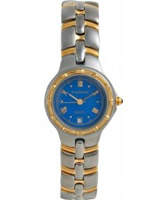 Buy Krug Baumen Ladies Regatta Blue Silver Gold Watch online