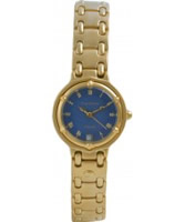 Buy Krug Baumen Ladies Charleston Blue Gold Watch online
