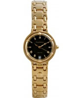 Buy Krug Baumen Ladies Charleston Black Gold Watch online
