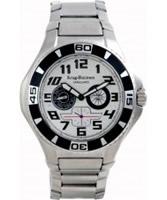 Buy Krug Baumen Vanguard Silver Black Steel Watch online