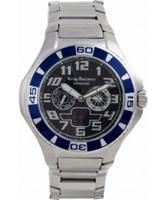 Buy Krug Baumen Vanguard Black Blue Steel Watch online