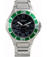 Buy Krug Baumen Vanguard Black Green Steel Watch online