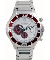 Buy Krug Baumen Challenger Silver Dial Brown Bezel Chronograph online