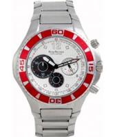 Buy Krug Baumen Challenger Silver Dial Red Bezel Chronograph online