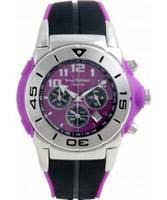 Buy Krug Baumen Kingston Gents Purple And Black Chronograph online