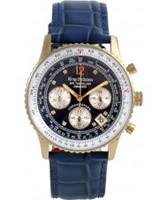 Buy Krug Baumen Air Traveller Blue Dial Blue Strap online