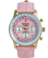 Buy Krug Baumen Air Traveller Pink Dial Pink Strap online