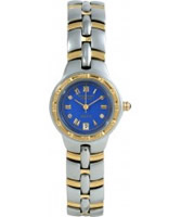 Buy Krug Baumen Regatta 4 Diamond Blue Dial Two Tone Strap online